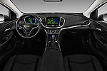 Stock photo of straight dashboard view of 2016 Chevrolet Volt Premier 5 Door Hatchback Dashboard
