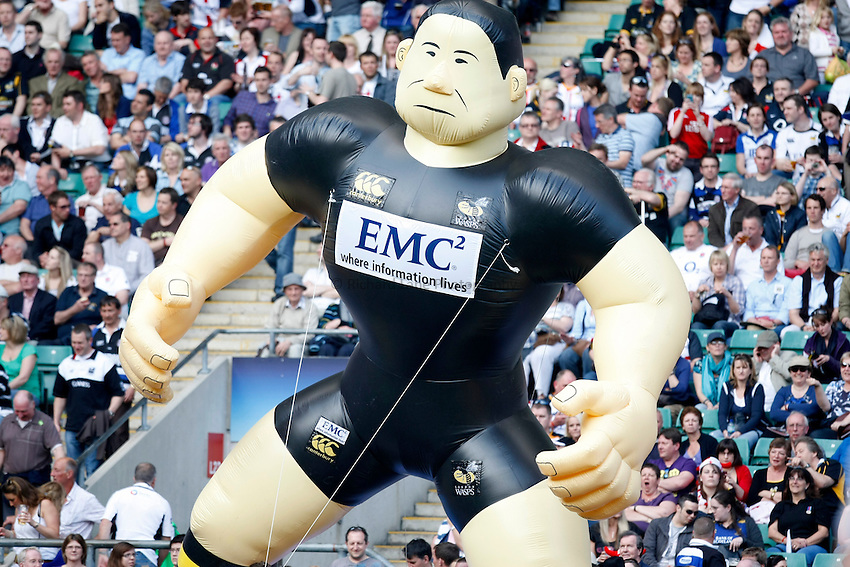 Photo: Richard Lane/Richard Lane Photography. London Wasps v Bath Rugby. The St. George's Day Game. Guinness Premiership. 24/04/2010. Wasps inflatable player.