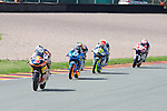 GP Deutschland during the World Championship 2014.<br /> Sachsering, Germany.<br /> races<br /> javk miller<br /> alex marquez<br /> brad binder<br /> Rafa Marrodán by PHOTOCALL3000