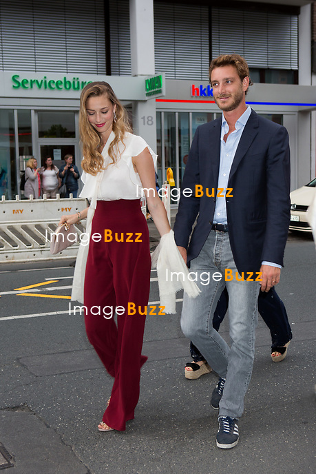 Soir&eacute;e d'avant-mariage du Prince Ernst junior de Hanovre et de Ekaterina Malysheva, &agrave; la Brasserie Ernst August Brauhaus, &agrave; Hanovre.<br /> Allemagne, Hanovre, 7 juillet 2017.<br /> Pre wedding party of Prince Ernst Junior of Hanover and Ekaterina Malysheva at the Ernst August Brauhaus restaurant in Hanover.<br /> Germany, Hanover, 7 july 2017<br /> Pic : Prince Pierre Casiraghi &amp; wife Beatrice Borromeo