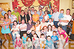 FAMILY: Martina Callaghan-OMeara, Ballybrack, Firies (seated centre), celebrates her 30th birthday with her family at her house in Firies last Saturday night..