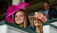 LOUISVILLE, KY - MAY 06: A girl wears a fancy hat on Kentucky Derby Day at Churchill Downs on May 6, 2017 in Louisville, Kentucky. (Photo by Douglas DeFelice/Eclipse Sportswire/Getty Images)