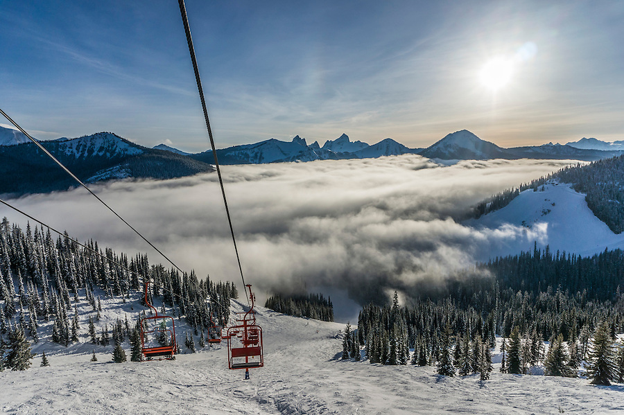 View from the top of Gibson's Pass Ski resort in Manning Park, British Colombia, Canada.