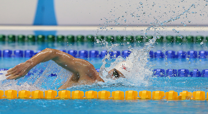 Rio de Janeiro-15/9/2016- Canada swimmer Benoit Huot swims to a bronze medal in the men's 400m freestyle final at the 2016 Paralympic Games in Rio. Photo Scott Grant/Canadian Paralympic Committee