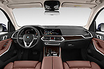 Stock photo of straight dashboard view of a 2019 BMW X5 x Line 5 Door SUV