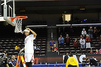 March 14, 2010.  Melanie Murphy cuts down the net after the Stanford Cardinal beat the UCLA Bruins to win the 2010 Pac-10 Tournament.