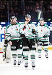 Stockholm 2014-03-27 Ishockey Kvalserien Djurg&aring;rdens IF - R&ouml;gle BK :  <br /> R&ouml;gles Almen Bibic deppar efter matchen<br /> (Foto: Kenta J&ouml;nsson) Nyckelord:  DIF Djurg&aring;rden R&ouml;gle RBK Hovet depp besviken besvikelse sorg ledsen deppig nedst&auml;md uppgiven sad disappointment disappointed dejected