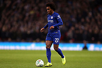 Willian of Chelsea during Tottenham Hotspur vs Chelsea, Caraboa Cup Football at Wembley Stadium on 8th January 2019