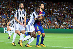 UEFA Champions League 2017/2018 - Matchday 1.<br /> FC Barcelona vs Juventus Football Club: 3-0.<br /> Gonzalo Higuain, Medhi Benatia &amp; Sergio Busquets.