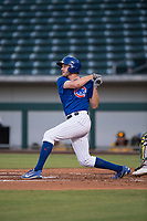 AZL Cubs 1 right fielder Jamie Galazin (29) follows through on his swing during an Arizona League game against the AZL Cubs 1 at Sloan Park on June 28, 2018 in Mesa, Arizona. The AZL Athletics defeated the AZL Cubs 1 5-4. (Zachary Lucy/Four Seam Images)