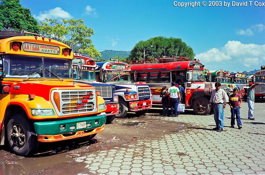 """Chicken Buses"", Antigua, Guatemala"