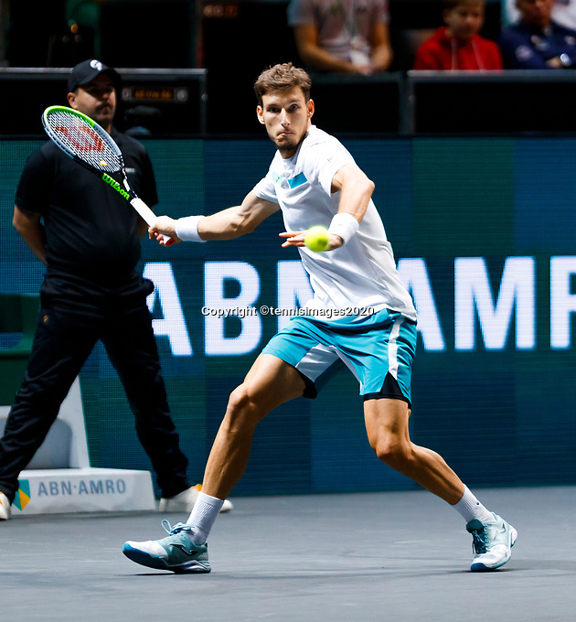 Rotterdam, The Netherlands, 14 Februari 2020, ABNAMRO World Tennis Tournament, Ahoy, Pablo Carreno Busta (ESP).<br /> Photo: www.tennisimages.com