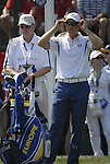European Team player Henrik Stenson gets ready to drive off on the 1st tee during the Singles on the Final Day of the Ryder Cup at Valhalla Golf Club, Louisville, Kentucky, USA, 21st September 2008 (Photo by Eoin Clarke/GOLFFILE)
