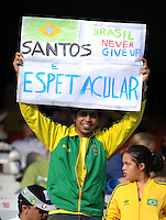 Brazil fan. Brazil defeated USA 3-0 during the FIFA Confederations Cup at Loftus Versfeld Stadium in Tshwane/Pretoria, South Africa on June 18, 2009.