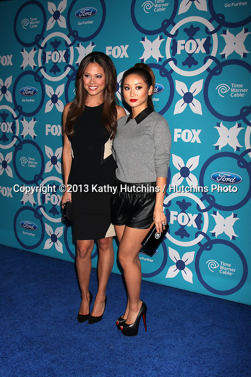LOS ANGELES - SEP 9:  Vanessa Lachey, Brenda Song at the FOX Fall Eco-Casino Party at The Bungalow on September 9, 2013 in Santa Monica, CA