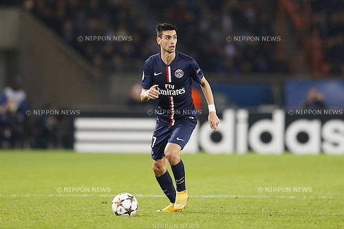 Javier Pastore (PSG), NOVEMBER 25, 2014 - Football / Soccer : UEFA Champions League Group F match between Paris Saint-Germain 3-1 AFC Ajax at the Parc des Princes Stadium in Paris, France. (Photo by Mutsu Kawamori/AFLO) [3604]