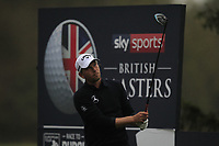 Marcel Siem (GER) on the 3rd tee during Round 4 of the Sky Sports British Masters at Walton Heath Golf Club in Tadworth, Surrey, England on Sunday 14th Oct 2018.<br />