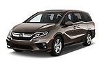 2019 Honda Odyssey EX-L 5 Door Minivan Angular Front automotive stock photos of front three quarter view