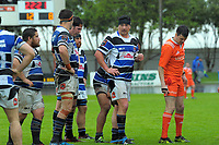 Wanganui's Cole Baldwin talks to his teammates during the Mitre 10 Heartland Championship rugby union match between Horowhenua Kapiti and Wanganui at Levin Domain in Levin, New Zealand on Saturday, 7 October 2017. Photo: Dave Lintott / lintottphoto.co.nz