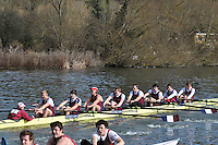 007 IM1.8+ Oxford Brookes Univ..Reading University Boat Club Head of the River 2012. Eights only. 4.6Km downstream on the Thames form Dreadnaught Reach and Pipers Island, Reading. Saturday 25 February 2012.