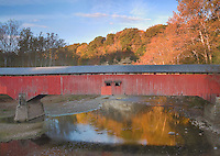 Deers Mill Covered Bridge in Shades State Park, Montgomery County, Indiana  October 2008