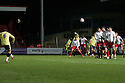 Peter Murphy of Carlisle fires in a free-kick. - Stevenage v Carlisle United - npower League 1 - Lamex Stadium, Stevenage - 17th April, 2012. © Kevin Coleman 2012