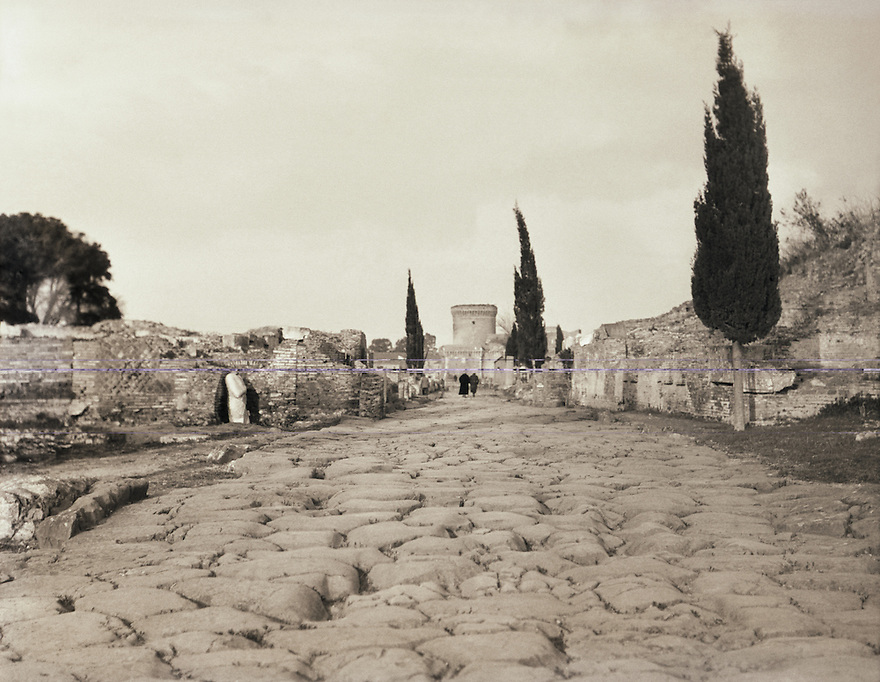 Ancient European Street - photographed circa 1900