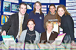 FROM BEAUTY THERAPY TO ENGINEERING: Tralee Community College has many varied courses available to school leavers..Pictured at the Careers Exhibition on Thursday afternoon from l-r were: Mike Quirke (teacher in TCC) , students Eva Barrington, Chris OCallaghan and teacher Caroline Cashel. Front l-r: Mary-Anne Lowney and Kathleen Lucey (both TCC)..