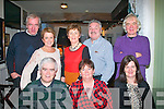 Geraldine Lynch, St Brendan's Pk, Tralee (seated centre) celebrated her birthday last Saturday night in Duffin's, Ballymullen, Tralee also seated is Liam (Lt) & Mary (Rt) Back L-R Pat O'Connor, Phil Keeling, Mary O'Connor with David & Mike Lynch.