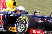 BARCELONA, ESPANHA, 12 DE MAIO DE 2012 - GP DA CATALUNHA -  O piloto Sebastian Vetel da equipe Red Bull durante o treino classificatorio do GP da Catalunha, neste sabado. (FOTO: PIXA / BRAZIL PHOTO PRESS).