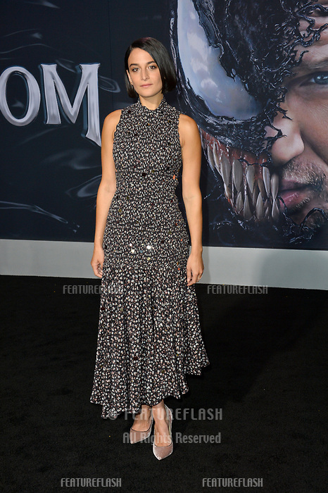 LOS ANGELES, CA. October 01, 2018: Jenny Slate at the world premiere for &quot;Venom&quot; at the Regency Village Theatre.<br /> Picture: Paul Smith/Featureflash