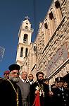 Bethlehem, the Syrian Orthodox Christmas Procession in front of St. Mary Church&#xA;&#xA;<br />