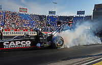 Jun. 29, 2012; Joliet, IL, USA: NHRA top fuel dragster driver Steve Torrence during qualifying for the Route 66 Nationals at Route 66 Raceway. Mandatory Credit: Mark J. Rebilas-
