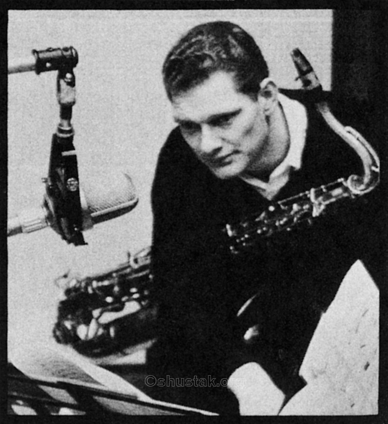 Zoot Sims studies his part.