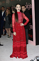 www.acepixs.com<br /> <br /> June 8 2017, New York City<br /> <br /> Lily Collins arriving at the premiere of 'Okja' hosted by Netflix at the AMC Lincoln Square Theater on June 8, 2017 in New York City.<br /> <br /> By Line: Nancy Rivera/ACE Pictures<br /> <br /> <br /> ACE Pictures Inc<br /> Tel: 6467670430<br /> Email: info@acepixs.com<br /> www.acepixs.com