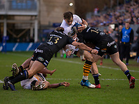 Wasps' Josh Bassett in action during todays match<br /> <br /> Photographer Bob Bradford/CameraSport<br /> <br /> European Rugby Heineken Champions Cup Pool 1 - Bath Rugby v Wasps - Saturday 12th January 2019 - The Recreation Ground - Bath<br /> <br /> World Copyright &copy; 2019 CameraSport. All rights reserved. 43 Linden Ave. Countesthorpe. Leicester. England. LE8 5PG - Tel: +44 (0) 116 277 4147 - admin@camerasport.com - www.camerasport.com