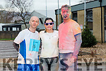 The Sports Therapy First Year students end of year Colour Fun Day 5km Run in Aid of  'Tralee No Name Youth Club', a local charity for young people which provides an alternative to pub culture for young people in Ireland. Pictured Martin O'Sullivan, Carolyn Reidy, Shane Canty