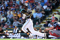 Pittsburgh Pirates outfielder Starling Marte (6) during a Spring Training game against the Boston Red Sox on March 12, 2015 at McKechnie Field in Bradenton, Florida.  Boston defeated Pittsburgh 5-1.  (Mike Janes/Four Seam Images)