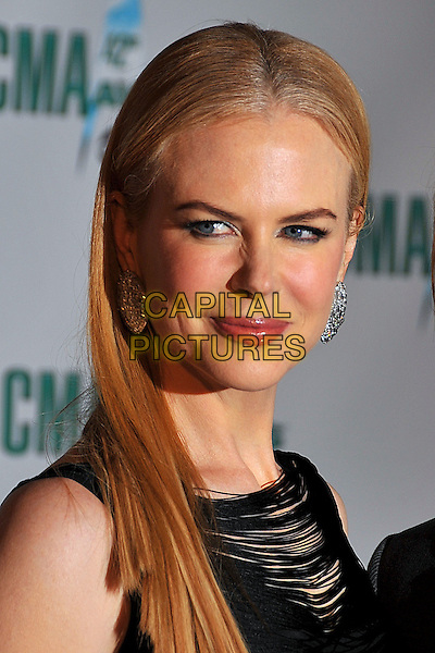 NICOLE KIDMAN.42nd Annual CMA Awards, Country Music's Biggest Night, held at the Sommet Center, Nashville, Tennessee, USA..November 12th, 2008.headshot portrait diamond earrings .CAP/ADM/LF.©Laura Farr/AdMedia/Capital Pictures.