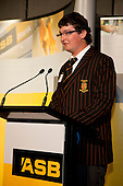 Matthew Pulman from Pukekohe High School gives the closing address on behalf of all students. ASB College Sport Young Sportsperson of the Year Awards held at Eden Park, Auckland, on November 11th 2010.