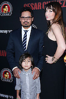 """HOLLYWOOD, LOS ANGELES, CA, USA - MARCH 20: Michael Pena, Roman Pena, Brie Shaffer at the Los Angeles Premiere Of Pantelion Films And Participant Media's """"Cesar Chavez"""" held at TCL Chinese Theatre on March 20, 2014 in Hollywood, Los Angeles, California, United States. (Photo by David Acosta/Celebrity Monitor)"""