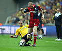 Richard Brodie of York City escapes from Mark Creighton of Oxford United during the Blue Square Premier play-off final between Oxford United and York City at Wembley Stadium, London on 16th May,2010.© Kevin Coleman 2010