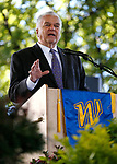 Nevada Gov. Steve Sisolak speaks at the Western Nevada College commencement ceremony in Carson City, Nev., on Monday, May 20, 2019. <br /> Photo by Cathleen Allison/Nevada Momentum