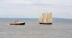 Two Boats Cruising in Maine, USA