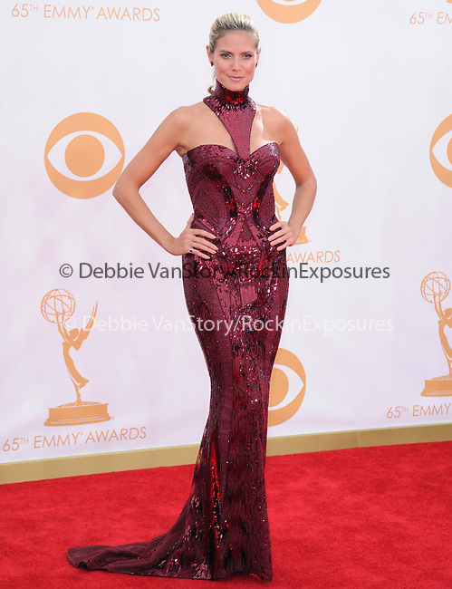 Heidi Klum attends 65th Annual Primetime Emmy Awards - Arrivals held at The Nokia Theatre L.A. Live in Los Angeles, California on September 22,2012                                                                               © 2013 DVS / Hollywood Press Agency