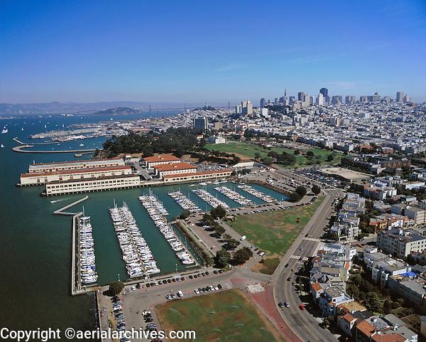 aerial photograph Marina Green Gas House Cove Fort Mason San Francisco, CA