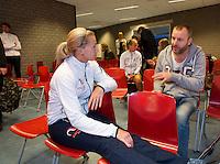 Februari 04, 2015, Apeldoorn, Omnisport, Fed Cup, Netherlands-Slovakia, Predraw persconferentie, Michaella Krajicek (NED)<br /> Photo: Tennisimages/Henk Koster
