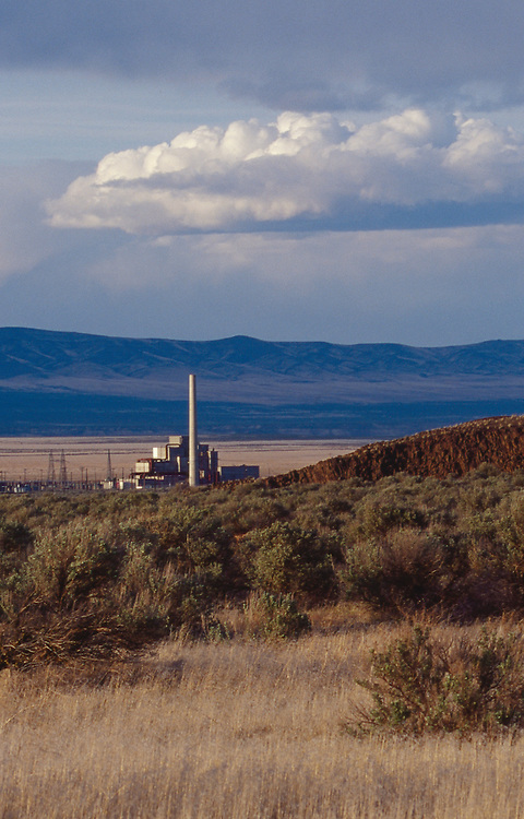 Hanford Site, 100-B Nuclear reactor, Department of Energy, First plutonium production reactor in world, Basalt, Gable Butte, Eastern Washington State, Pacific Northwest.