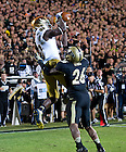 Sept. 14, 2013; DaVaris Daniels catches a touchdown pass against Purdue.<br /> <br /> Photo by Matt Cashore
