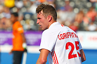 Chris Griffiths of England during the Hockey World League Semi-Final Pool A match between England and Malaysia at the Olympic Park, London, England on 17 June 2017. Photo by Steve McCarthy.